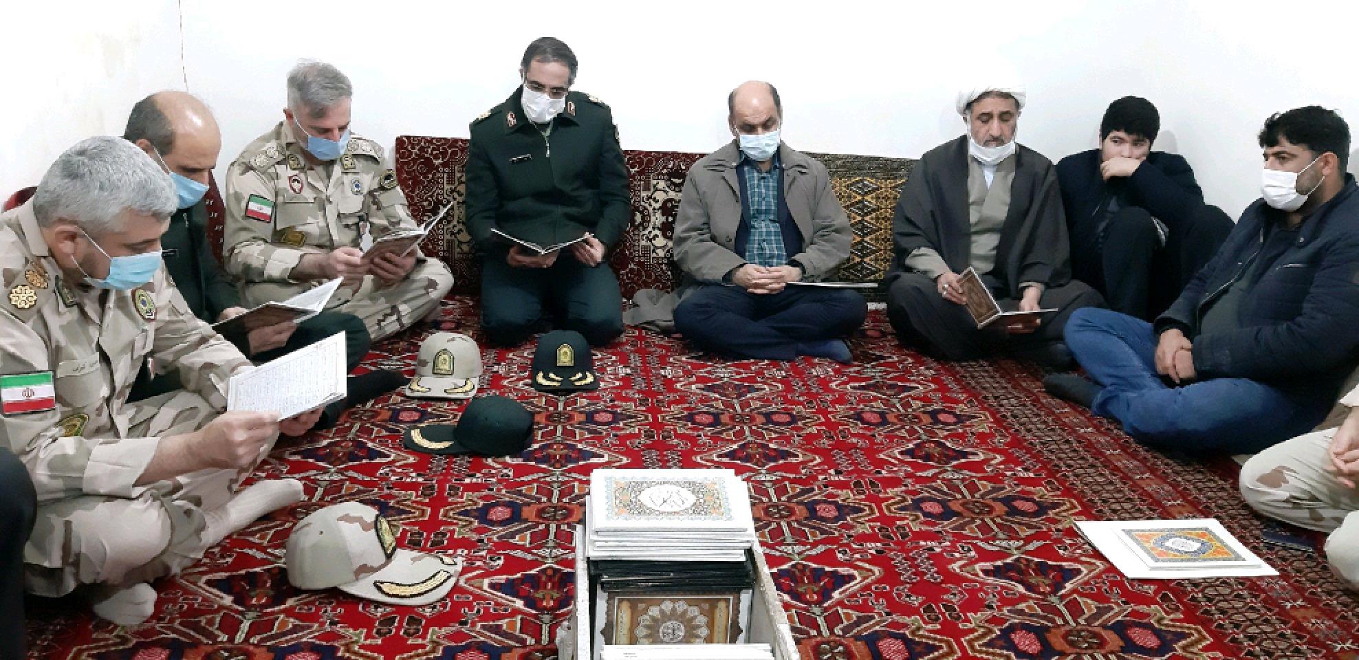 دیدار استاندار، فرمانده هان انتظامی با خانواده شهید خطیری