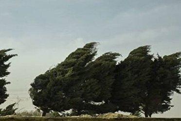 وزش باد درگرگان با سرعت 79 کیلومتر در ساعت