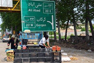 ممنوعیت دست فروشی در حاشیه جادههای گلستان از اول دی